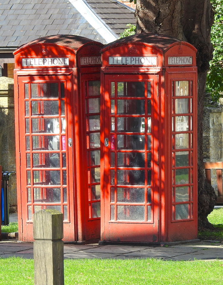 Twin Phone Booths, Broadway, Worcestershire