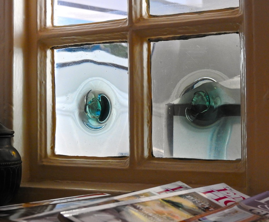 Old Glass Window Panes, Portloe, Cornwall