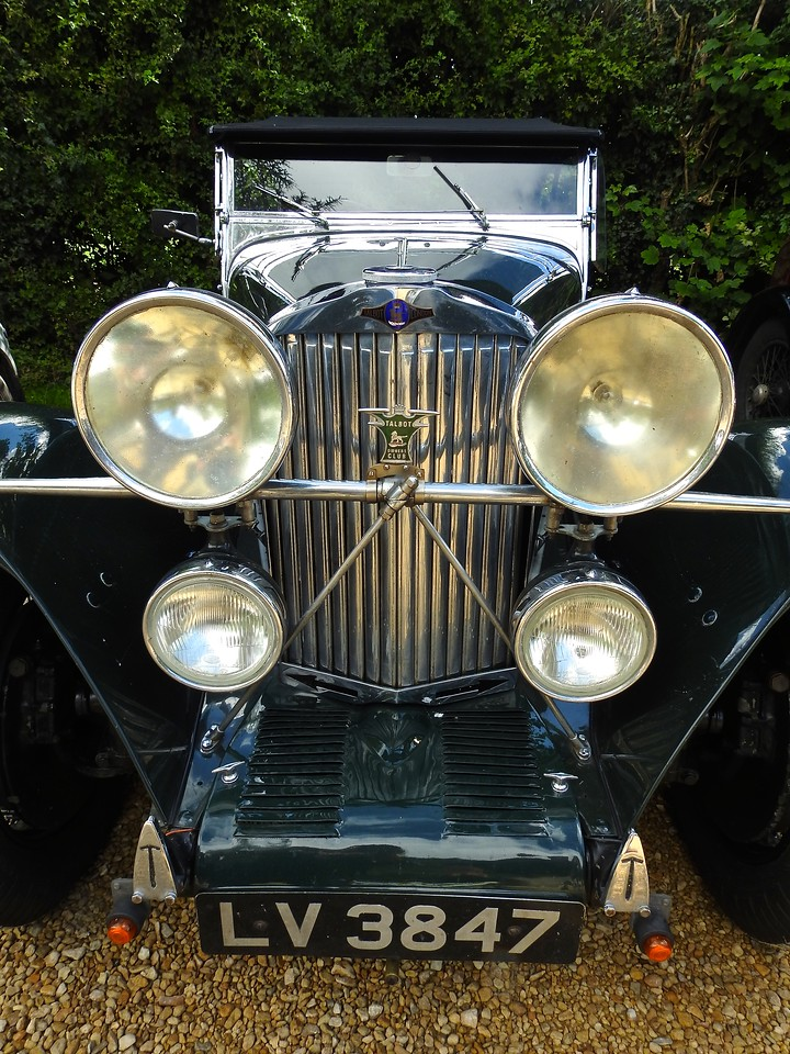 Antique Talbot parked at Hidcote