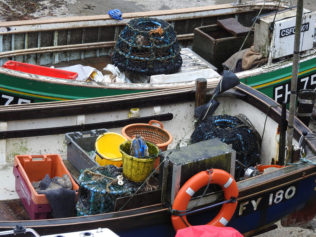 Portloe Fishing Boats