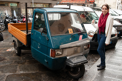 I was fascinated by the little trucks in Italy.