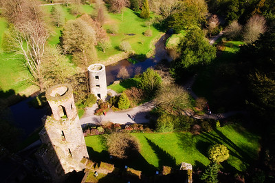 Looking down from the top of Blarney Castle