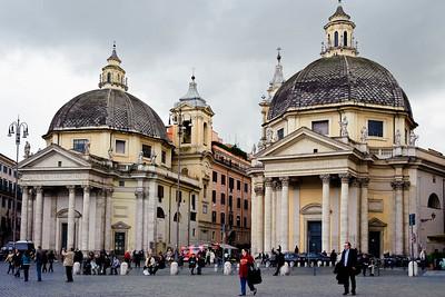 Santa Maria dei Miracoli and Santa Maria in MontesantoThe twin churches in Piazza Del Popolo
