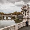 Sant'Angelo Bridge over the Tiber River, Rome.