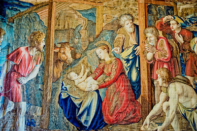 Tapestry depicting the Birth of Christ in the Gallery of Tapestries, Vatican Museum, Vatican City