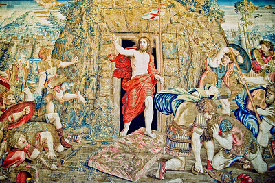 Tapestry depicting the Resurrection of Christ in the Gallery of Tapestries, Vatican Museum, Vatican City
