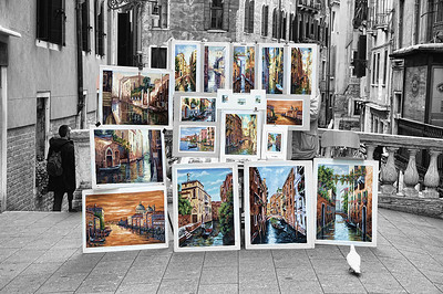Venice painting's for sale.