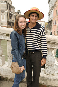 Meghan and the gondola man.