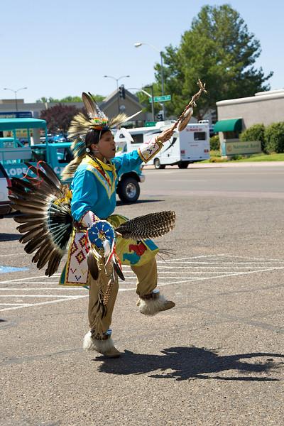 Indian tribal dance before visiting Antelope Slot Canyon