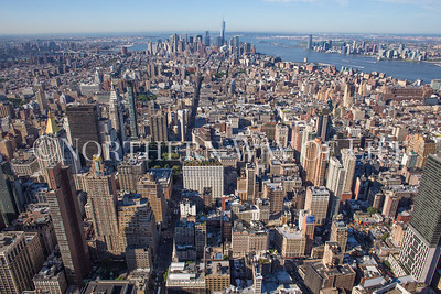 New York City as seen from the top of the Empire State Building