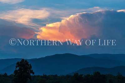 Appalachians at sunset in East Tennessee