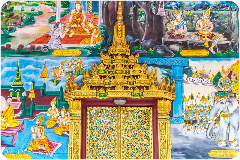 Inpeng Temple Portico Door