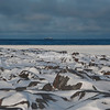 Looking across at a ship on Hudson Bay, Canada