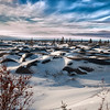 Arctic landscape near Hudson Bay, Churchill, Canada