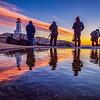 Photographing sunset at Peggys Cove, Nova Scotia, Canada