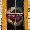 Window of fishing shack, Blue Rocks, Nova Scotia