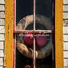 Window of fishing shack, Blue Rocks, Nova Scotia