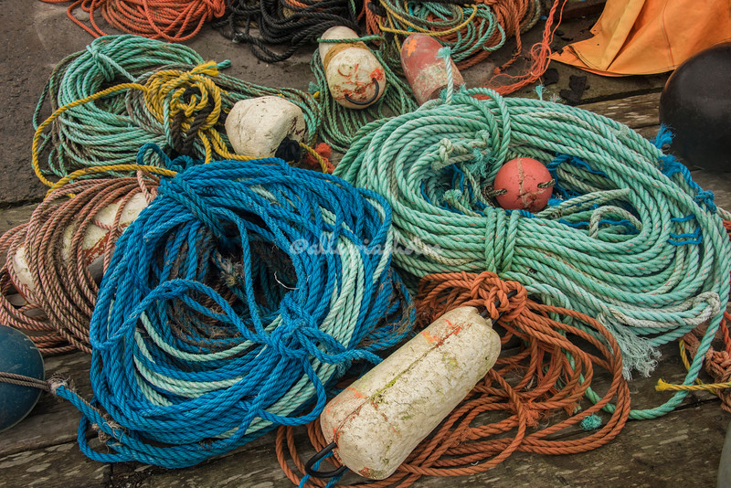 Fishing Ropes, Peggy's Cove, Nova Scotia