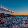 Photographing sunset at Peggys Cove, Nova Scotia, Canada
