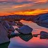 Photographing sunrise at Peggys Cove, Nova Scotia, Canada
