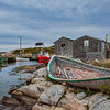 Old boat, harbor, Peggy's Cove, Nova Scotia