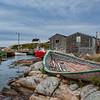 Old boat, harbor, Peggy's Cove, Nova Scotia