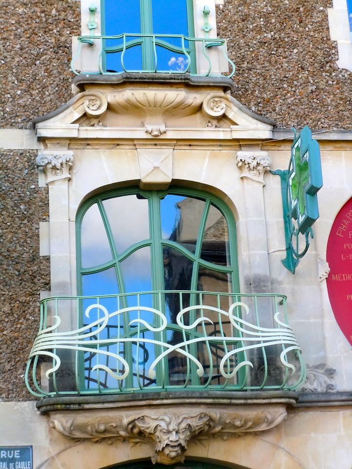 Art Nouveau Balcony Detail