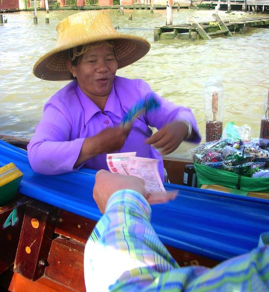 Sales Lady,  Chao Phraya River, Bangkok