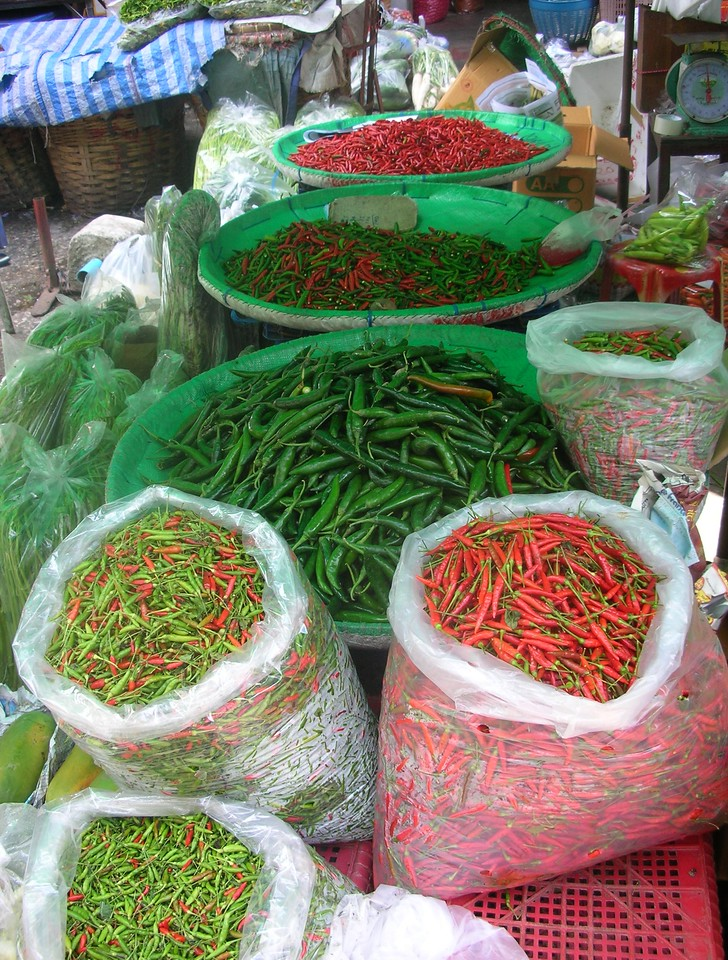 Chili Peppers, Bangkok Flower Market