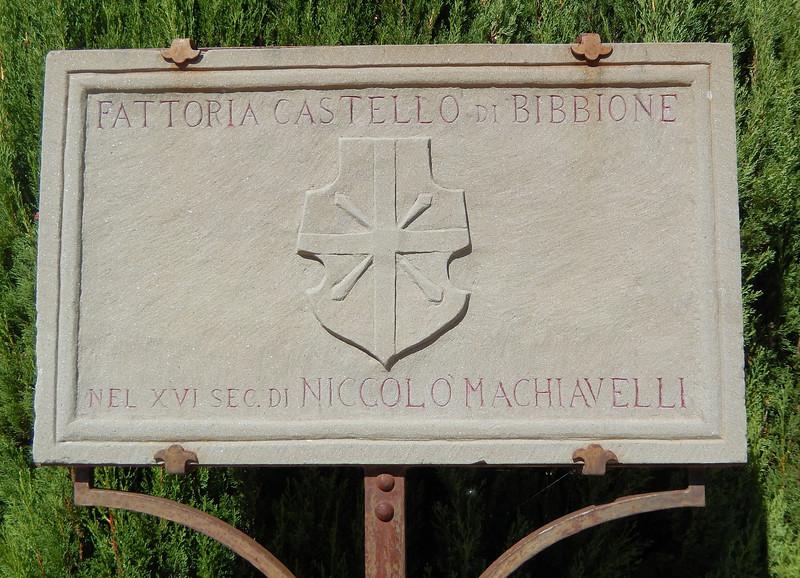 Castello Bibbione Sign