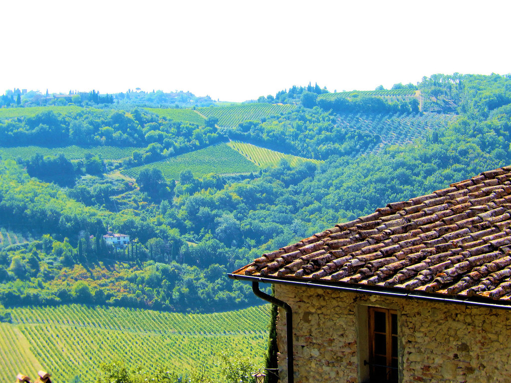 View from Castello Bibbione