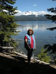 Sue at Diamond Lake
