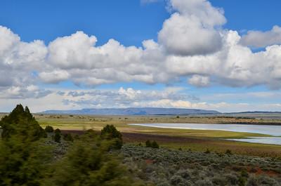 Hart Mountain appears on the horizon