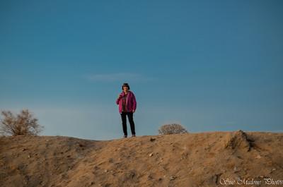 enjoying the sunset in the desert