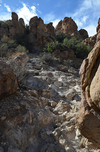 easy trail to Balanced Rock in the Grapevine Hills