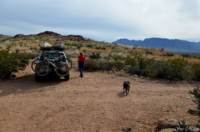 Mo and I drove up to Painted Gap but found no paint