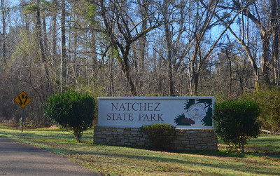 Great park near the southern terminus of the Natchez Trace Parkway