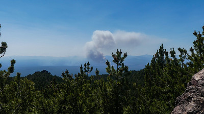 The Darlene Fire near LaPine started 20 minutes before we reached the summit