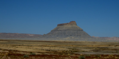 Factory Butte near Hanksville on Highway 23