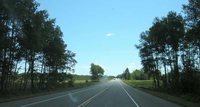 Highway 2 approaching Grand Rapids, Minnesota