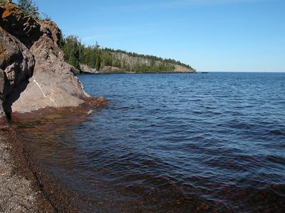 Lake Superior north shore at Tettagouche SP
