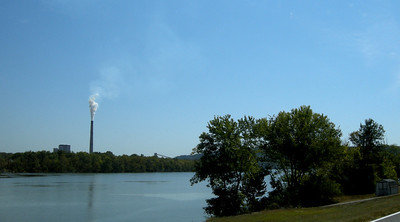 industry and air pollution in Indiana along the Ohio River
