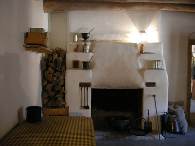 the adobe walls kept the rooms cool in summer and warm in winter
