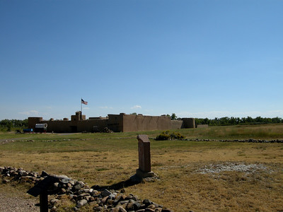 Bent's Fort from the cemetery