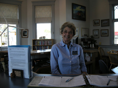 another great volunteer, Sue at the Lamar Visitor Center