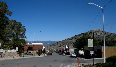 Checking out the tiny mining town of Pioche