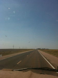 kansas is seriously flat as we near Dodge City
