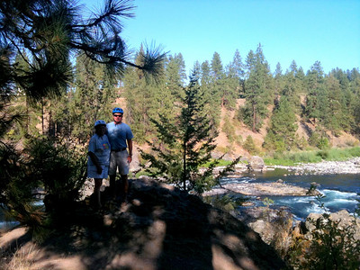 Mo and Don on the Centennial Trail by the Spokane River