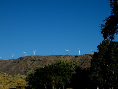 windmills above the campground