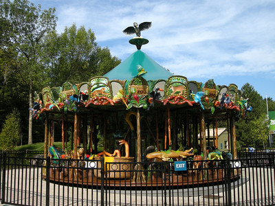 the new carousel at the Toronto Zoo